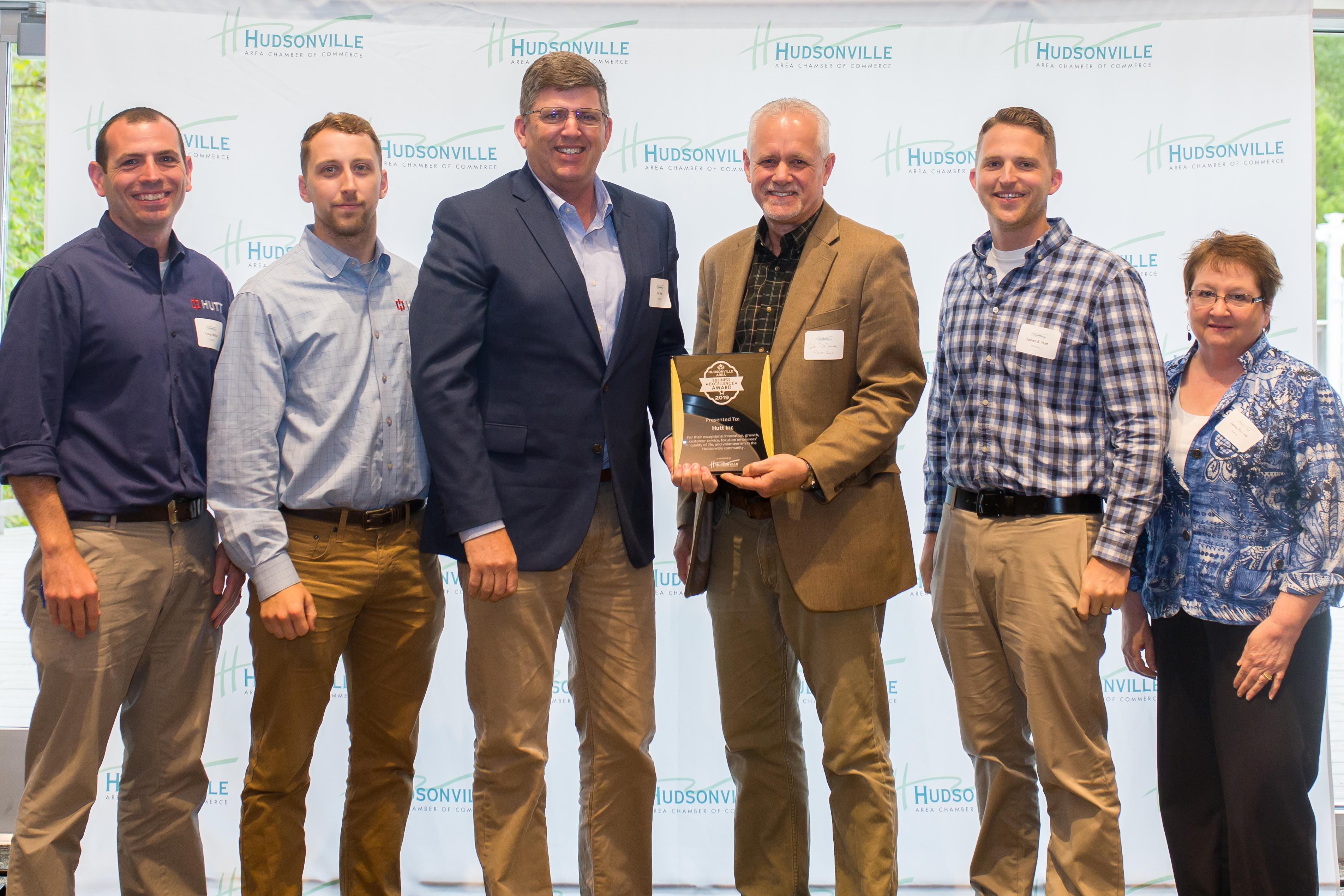 Hudsonville Area Business Excellence Award 2019 - Hutt Inc